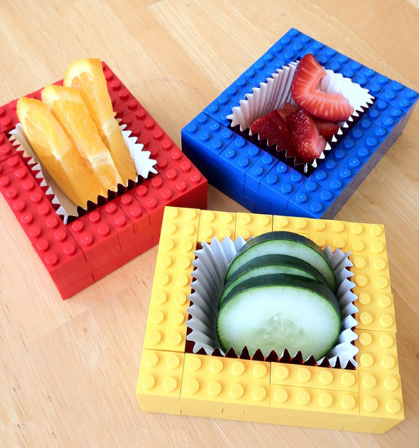 Тарелочки для конфет из лего