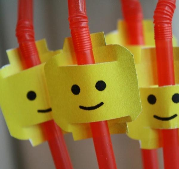 Коктейльные трубочки в стиле Лего
