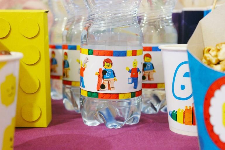 Наклейки для воды в стиле лего
