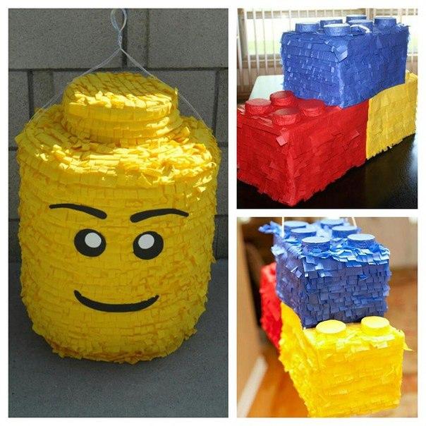 Пиньята для конфет в стиле Лего