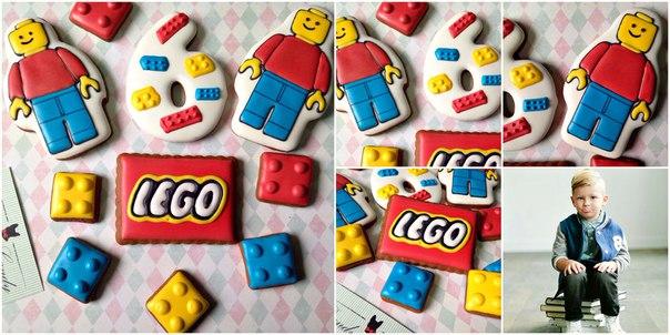 Глазированное печенье в стиле лего