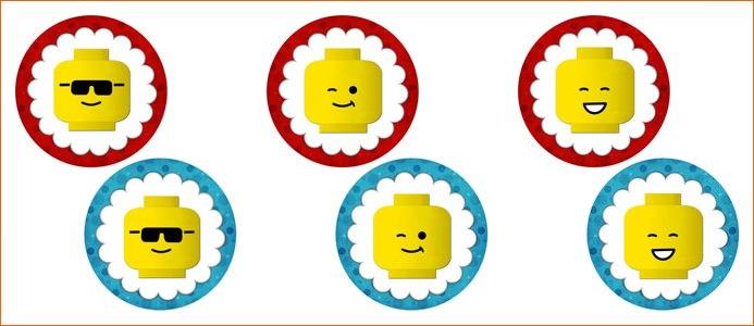Шаблоны топперов для кексов лего