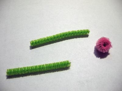 Весенние цветы из пушистой проволоки