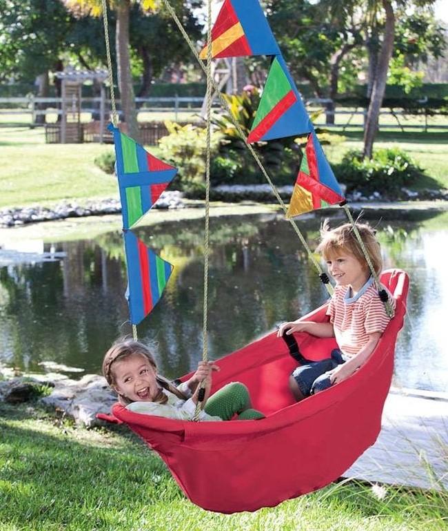 Детские качели из плотной ткани