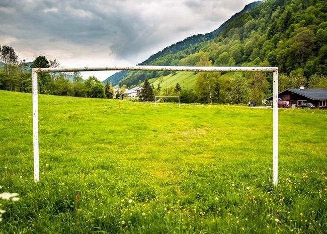 Футбольные ворота у себя во дворе