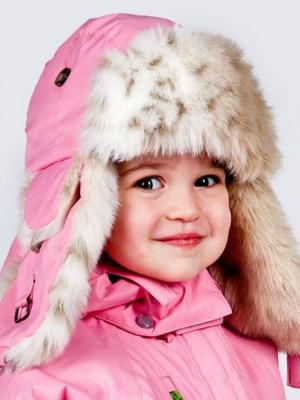 Меховая зимняя детская шапка