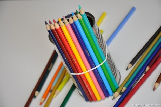 Ваза из цветных карандашей своими руками