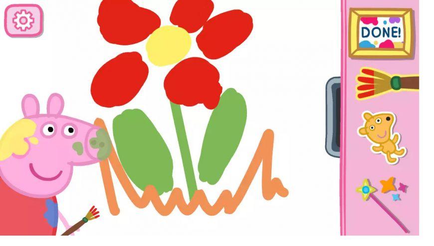 Мобильное приложение PeppaPig: Paintbox