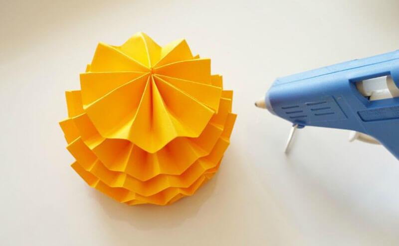 Как сделать тыкву из бумажных гармошек