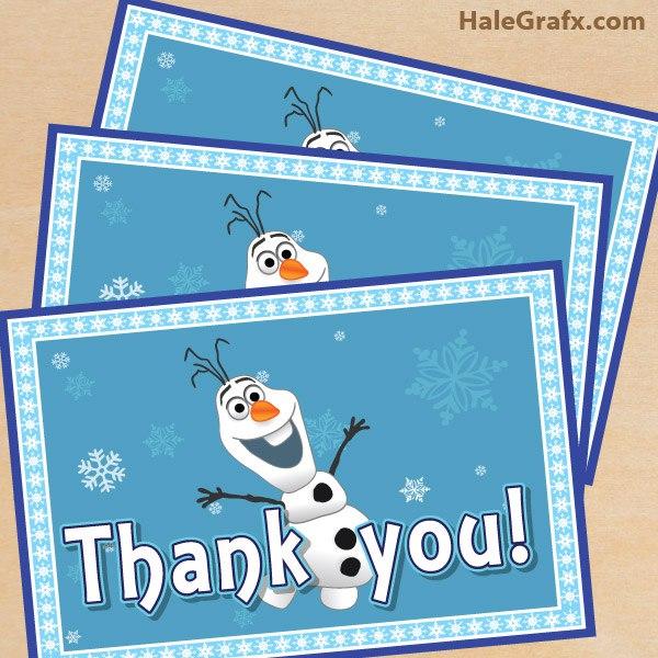 Благодарственные карточки в стиле Холодное сердце