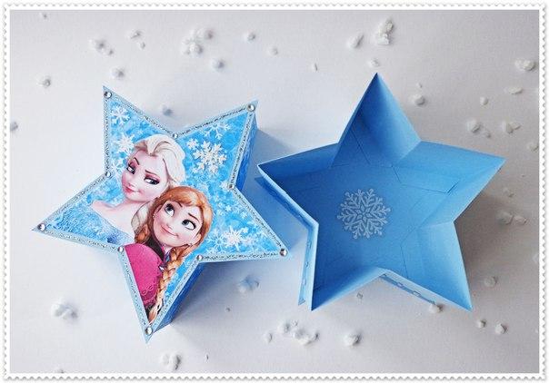 Коробочка-звезда для подарка
