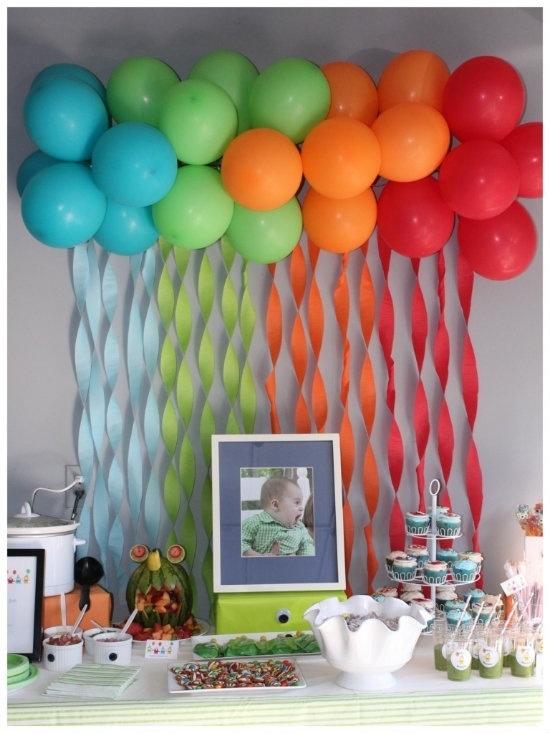 Радужные облака из шариков