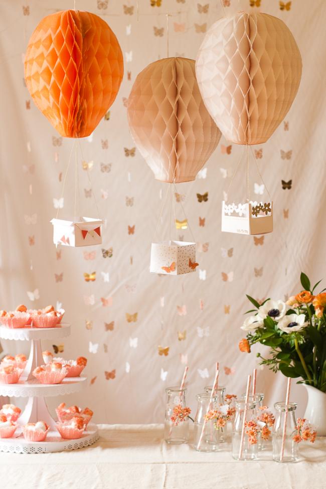 Воздушные шары из бумажных фонариков