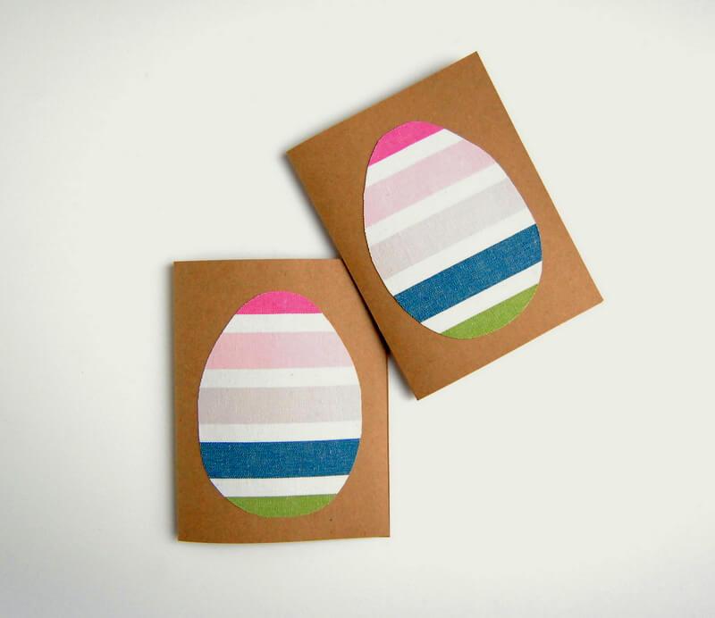 Открытка с пасхальным яйцом из ткани своими руками