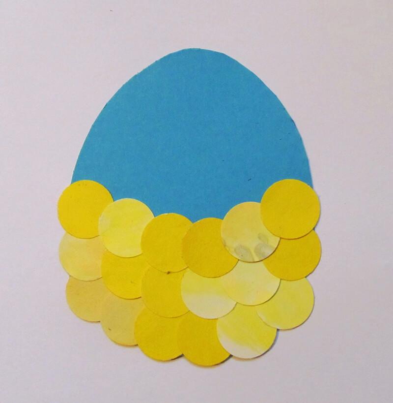 Яйцо из бумажных кружочков
