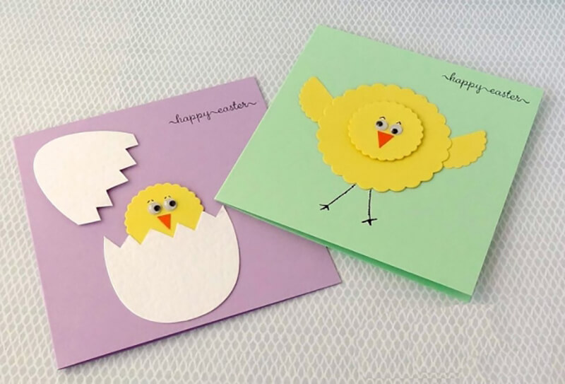 Пасхальная открытка с цыпленком своими руками