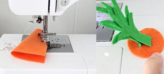 Как сшить морковку из фетра