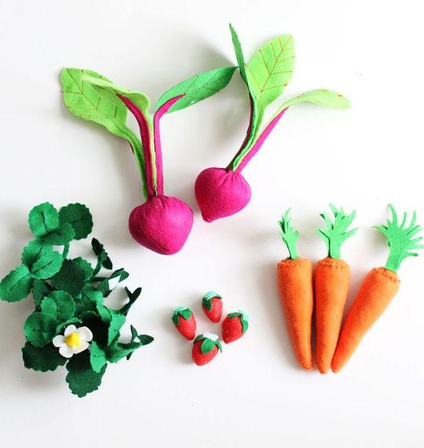 Овощи для игры из фетра