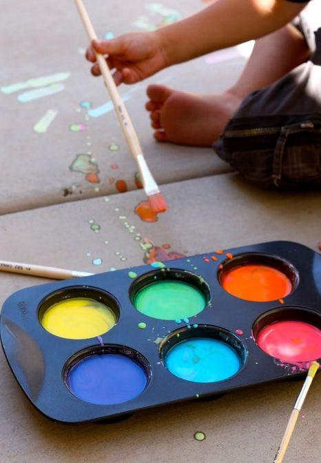 Краски из красителей в виде геля