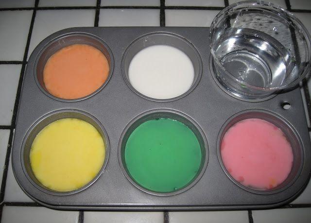 Детские краски из сухих пищевых красителей