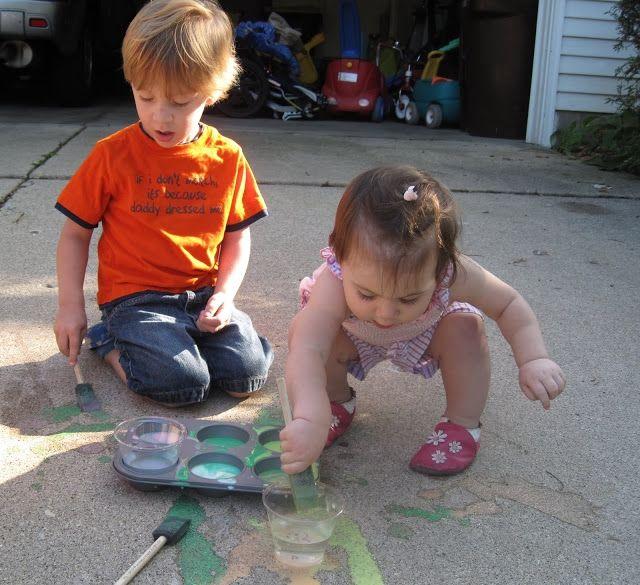 Детские краски для рисования на асфальте