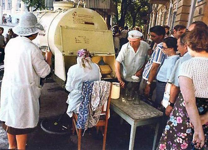 Молоко на разлив в СССР