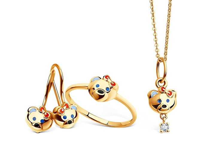 Набор золотых украшений для девочки