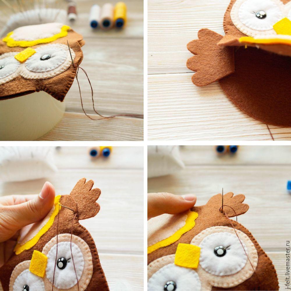 Как сшить сову из фетра