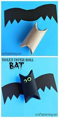 Как сделать летучую мышь из рулона от туалетной бумаги