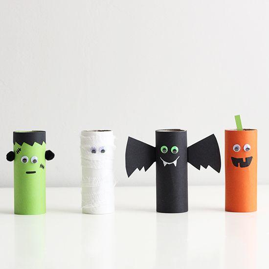 Поделки к Хэллоуину из втулок от туалетной бумаги