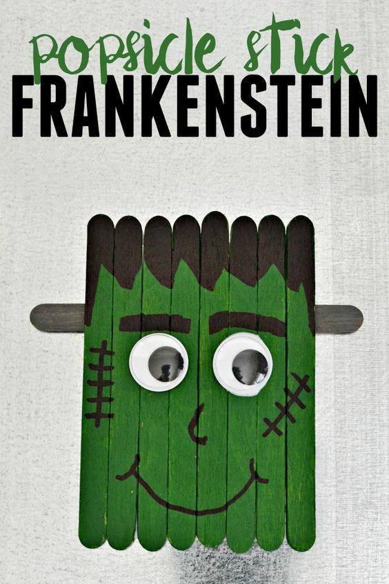 Франкенштейн из палочек от мороженого