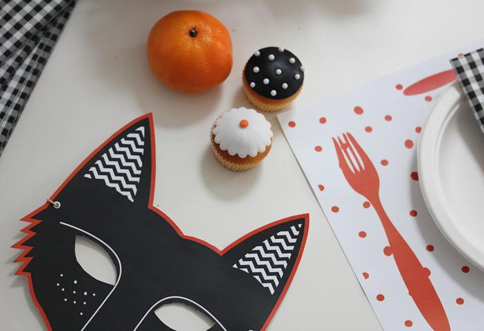 Шаблоны масок и тегов для Хэллоуина