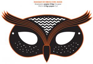 Шаблон маски совы