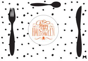 Салфетки под тарелки на Хэллоуин