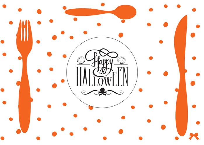 Шаблон салфетки под тарелку на Хэллоуин
