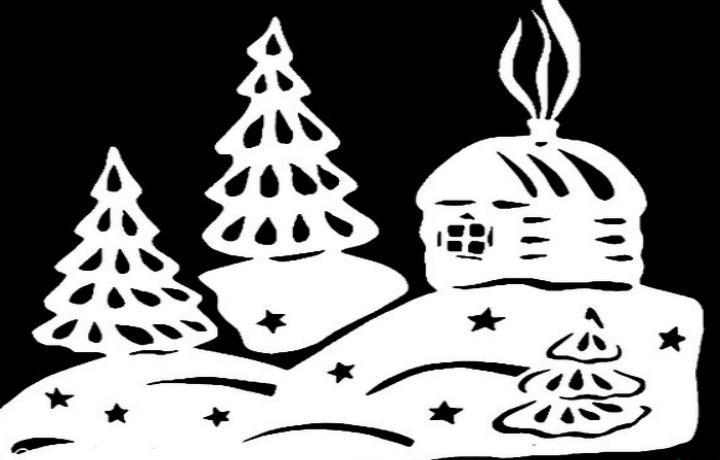 Трафареты для украшения окна к Новому году