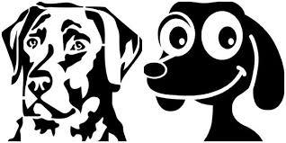 Трафареты собак