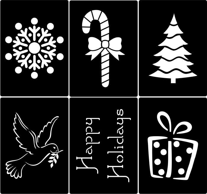 Рождественские трафареты для окон