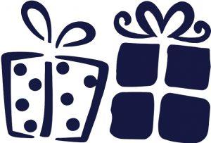 Новогодние трафареты подарков