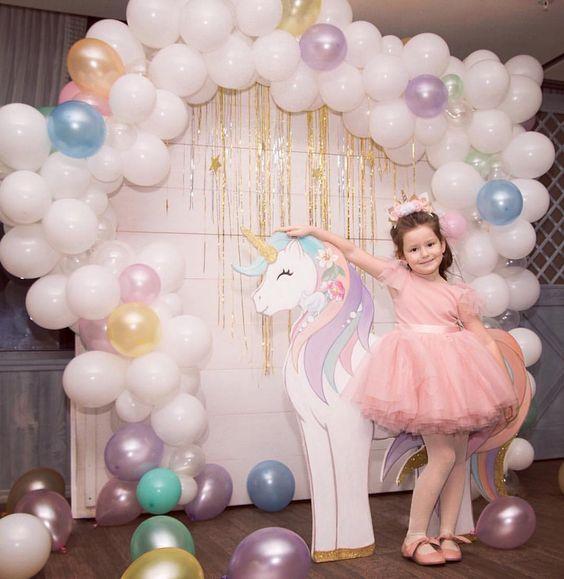 Оформление дня рождения воздушными шариками