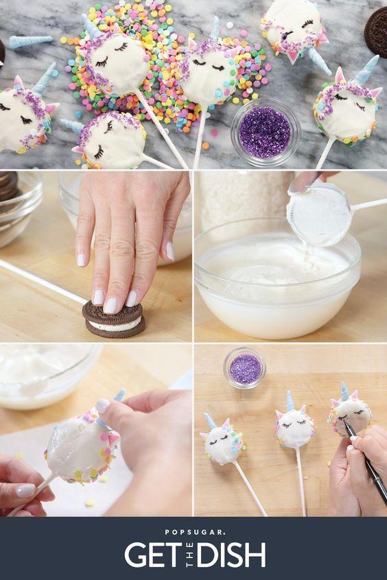 Десерт в виде единорогов своими руками