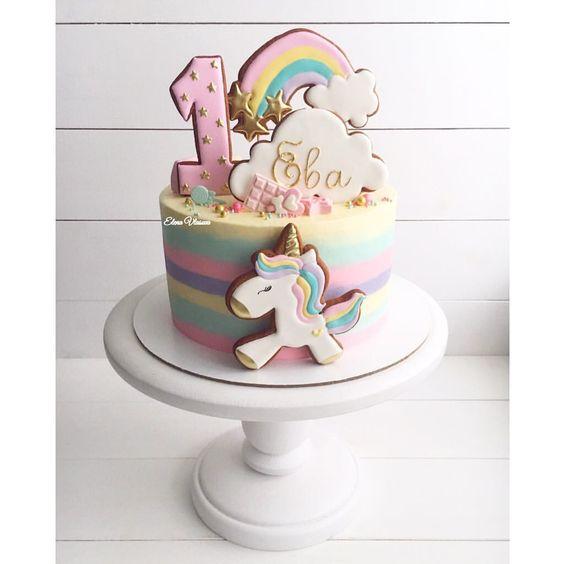 Торт в стиле сказочного единорога