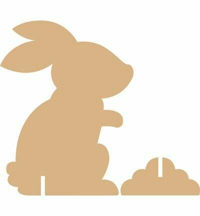 Фигура кролика из картона