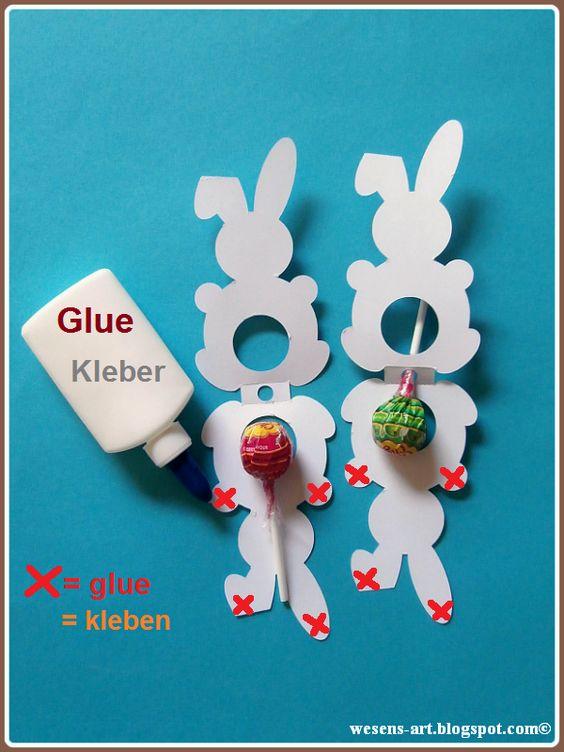 Как украсить конфету на палочке кроликом из бумаги