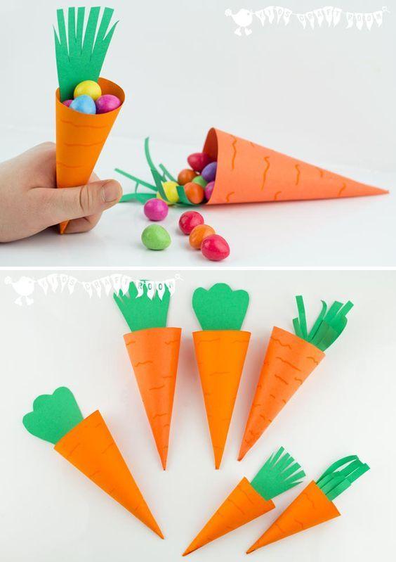 Пакетики для конфет в виде морковок
