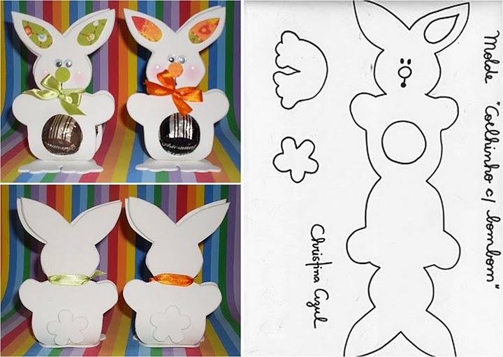 Шаблон кролика для упаковки конфеты