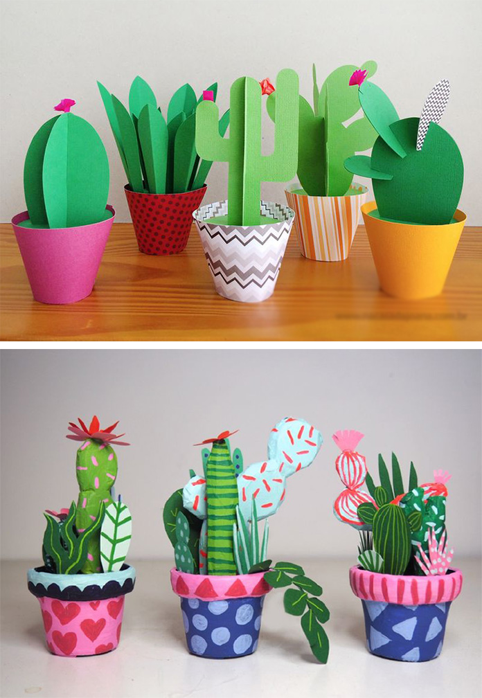 Бумажные кактусы