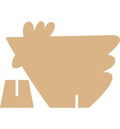 Объемная фигура курицы