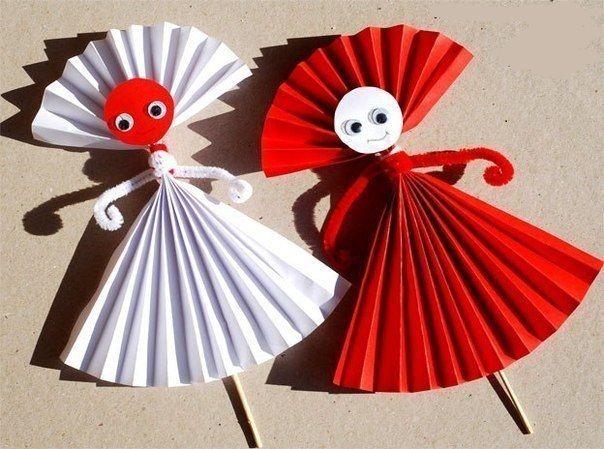 Поделки для детей из бумажных гармошек