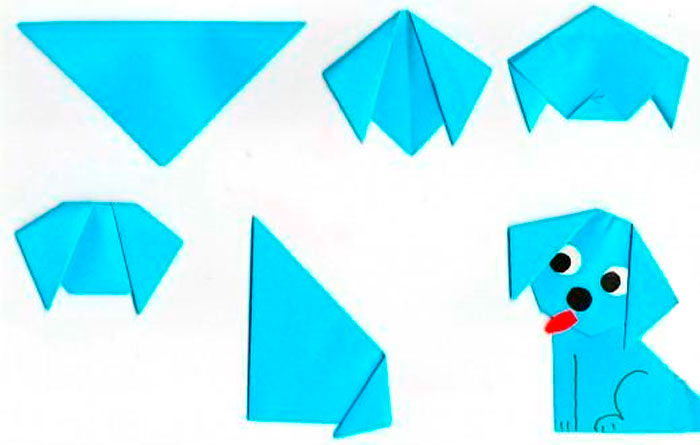 Собачка в технике оригами